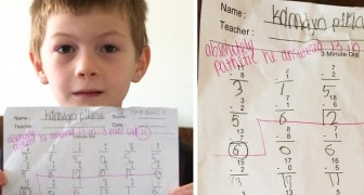 A 7-year-old boy is humiliated by his teacher because of the outcome of his math test: Sad and pathetic
