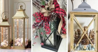 9 proposte incantevoli per decorare lanterne in perfetto spirito natalizio