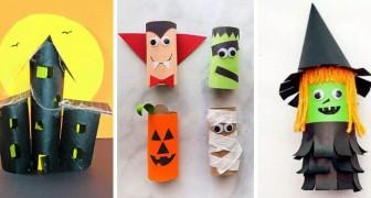 10 merveilleux travaux d'Halloween à réaliser en recyclant les rouleaux de papier toilette