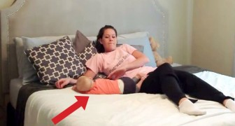 A couple shows us how to get away from a sleeping baby without waking him up!