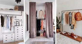 7 solutions brillantes pour aménager des coins garde-robe sans utiliser de meubles fermés