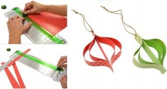 Ornamenti di Natale: una tecnica facile e velocissima per realizzarli con la carta