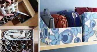 8 trovate pratiche e ingegnose per fare ordine in casa riciclando scatoloni di cartone