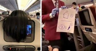 17 van de meest absurde en surrealistische situaties die passagiers aan boord van een vliegtuig hebben meegemaakt