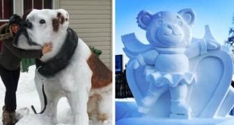 21 persone che sono riuscite a creare delle sculture di neve e ghiaccio che sembrano prendere vita