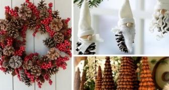 11 trovate una più bella dell'altra per usare le pigne nelle decorazioni di Natale