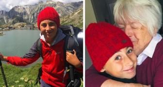 Un bambino di 10 anni viaggia a piedi con suo padre dall'Italia fino in Inghilterra per riabbracciare la nonna