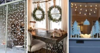10 proposte irresistibili da cui trarre spunto per decorare le finestre durante le feste di Natale