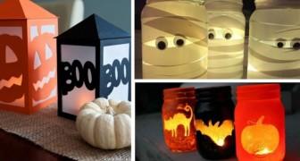 10 trovate creative per realizzare lanterne e portacandele per Halloween con barattoli, carta e non solo