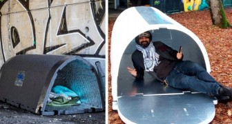 He invented igloos for the homeless: warm and safe shelters to allow the less fortunate to survive the winter