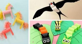 10 strabilianti lavoretti da fare con la carta per stimolare l'inventiva dei bambini