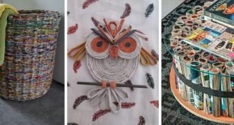 10 idee irresistibili per creare oggetti e decorazioni riciclando giornali e riviste
