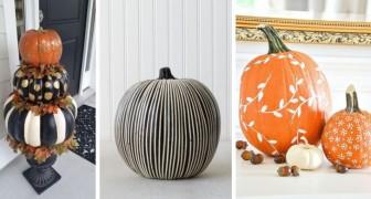 14 proposte originali per dipingere le zucche, dalle più eleganti alle più divertenti