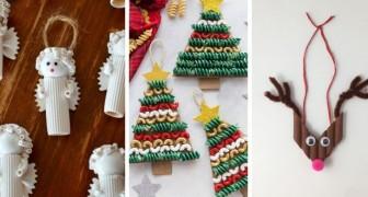 11 spunti uno più bello dell'altro per realizzare ornamenti di Natale usando la pasta cruda