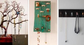 9 idee fantastiche per creare porta gioielli fai-da-te col riciclo creativo