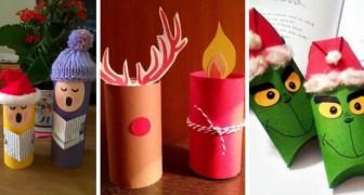 Lavoretti Di Natale Con Carta.12 Lavoretti Di Natale Facili E Colorati Da Realizzare Con I Rotoli Di Carta Igienica Creativo Media