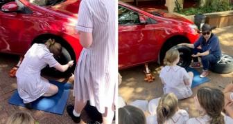 Una scuola insegna alle sue studentesse come cambiare la ruota di una macchina e cosa fare in caso di incidente