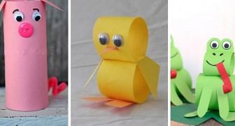 8 simpaticissimi progetti adatti ai più piccoli per realizzare animaletti di carta