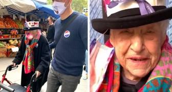 """""""Nu kan ik gelukkig sterven: zo liet deze 104-jarige vrouw de wereld weten dat ze tegen Trump stemde"""