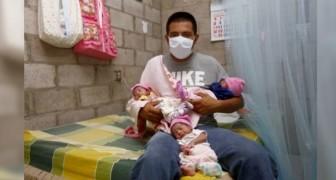 Sa femme meurt peu après avoir accouché : il s'occupe seul des triplés nouveau-nés