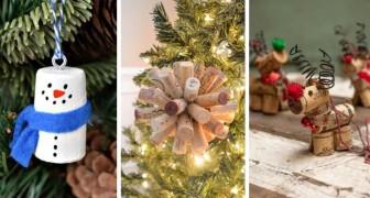 12 décorations de Noël fantastiques  à créer avec les bouchons en liège