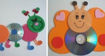 9 lavoretti per i bambini da realizzare riciclando vecchi CD o DVD
