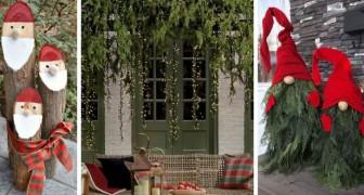 14 incantevoli decorazioni di Natale fai da te per l'esterno