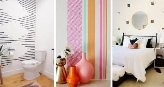 Decorare le pareti con nastri adesivi: un metodo facile per trasformare l'aspetto di qualsiasi stanza