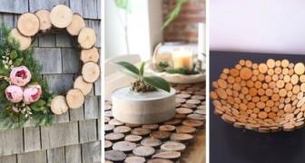 11 délicieux projets à réaliser avec les disques de bois issus de branches et de tronc