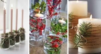11 bougeoirs DIY simples et élégants, parfaits pour la période des fêtes et pour l'hiver