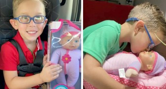A child asks his mother to buy him a doll to look after because he wants to be a great dad