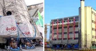 Un palazzo di 5 piani cammina su centinaia di gambe robotiche per 60 metri: le immagini sono strabilianti