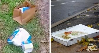 Die Behörden zwingen zwei Touristen, 80 km zurückzufahren, um den auf der Straße zurückgelassenen Müll einzusammeln...