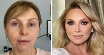 13 vrouwen die zich leenden voor een make-up sessie die heel erg tevreden zijn met het resultaat