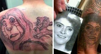 17 fois où des personnes ont choisi de se faire tatouer, mais les résultats ont été désastreux