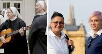 Eran monjas, pero cuando se conocieron fue amor a primera vista: ahora son una pareja muy feliz