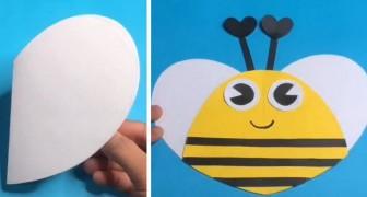 Una simpatica ape di carta: il lavoretto semplicissimo adatto ai bambini