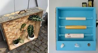 10 trovate geniali per riciclare vecchi cassetti e arredare in modo originale