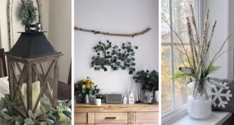 10 soluzioni una più bella dell'altra per decorare la casa con fiori e piante in inverno