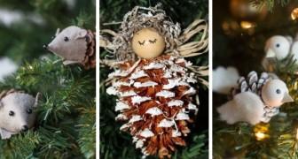 10 fantastiche decorazioni di Natale con le pigne che faranno divertire anche i bimbi