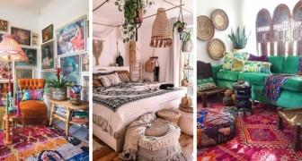 12 combinazioni da sogno per arredare la casa in stile boho chic