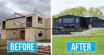 Cette maison a été construite à partir de 12 containers maritimes : l'intérieur est au moins aussi surprenant que l'aspect extérieur