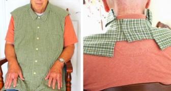 Estes babadores para adultos parecem camisas abotoadas e trazem um pouco de dignidade a quem os usa