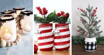 10 astuces irrésistibles pour recycler des pots en verre et les transformer en fantastiques décorations de Noël