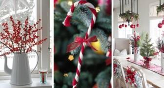 11 trovate meravigliose per creare una magica atmosfera natalizia decorando nei toni del bianco e del rosso