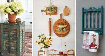 11 trovate brillanti per riciclare vecchi oggetti e decorare la casa in stile rustico
