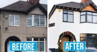 Eine Frau verwandelt ihr graues und langweiliges Haus in eine Luxusresidenz: Die Bilder sind erstaunlich