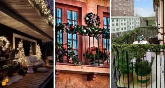 11 magiche idee per decorare il balcone in pieno spirito natalizio