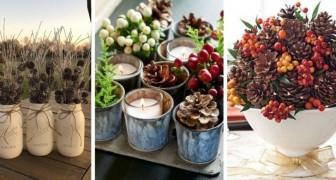 10 composizioni strepitose da usare come centrotavola per decorare con le pigne