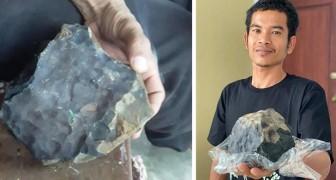 Dieser Mann wurde Millionär, nachdem ein wertvoller Meteorit auf dem Dach seines Hauses einschlug...